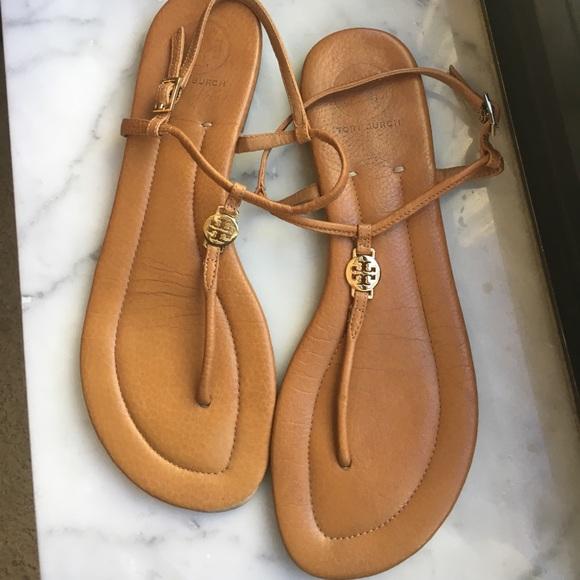 6fdea4699ca78 Tory Burch Emmy Flat Thong Sandals size 10. M 59f6207d4e8d17b21d06535b