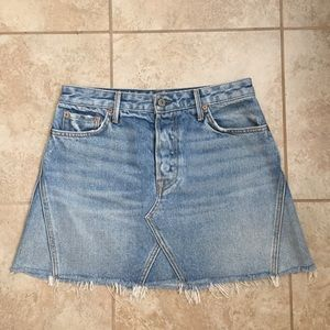 Grlfrnd Eva Denim skirt