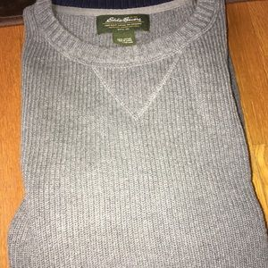 Eddie Bauer cable knit sweater. 100% cotton.