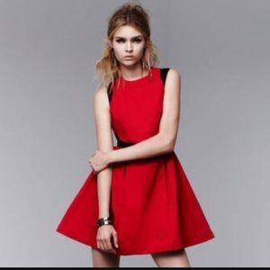 Prabal Gurug Red Skater Dress Size 2