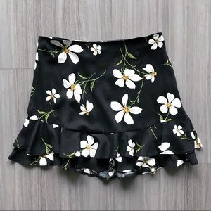 UO flippy floral skirt