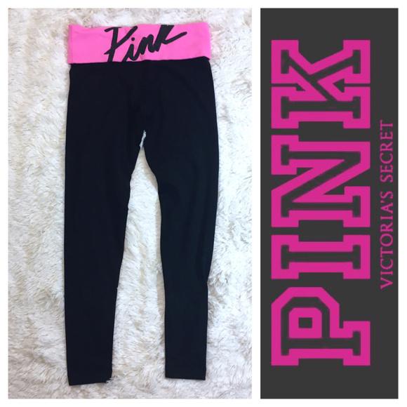 de67263533da4 Victoria's Secret Pants   Pink Vs Black Pink Yoga Leggings   Poshmark