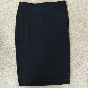 Vince Camuto black elastic waistband pencil skirt