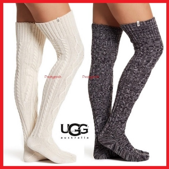e6969584d6 UGG Accessories | Cable Knit Over The Knee Socks Thigh High Boot ...