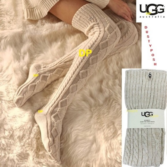 13 Off Ugg Accessories Ugg Cable Knit Over The Knee