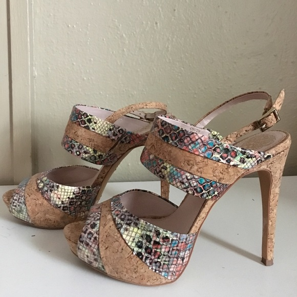 Vince Camuto Shoes Summery Patterned Heels Poshmark Unique Patterned Heels