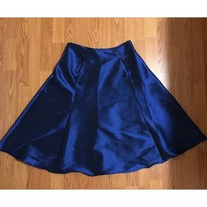 Royal blue A-line flowy skirt