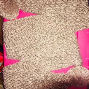 Tan Knitted Scarf