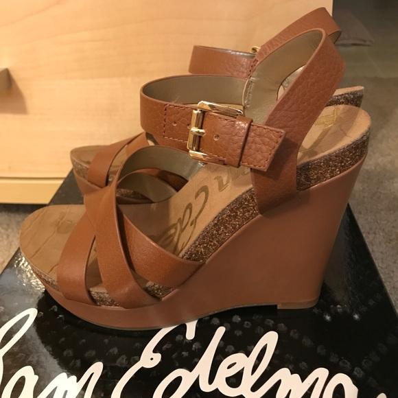 fbf385fa0f62a Sam Edelman Nelson Saddle Leather Wedges