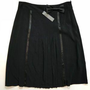 Theory Black Tie Skirt