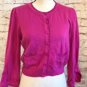 Nanette Lepore NWOT pink cardigan Small