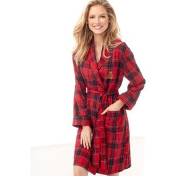 2675504d1d24 Lauren Ralph Lauren Intimates & Sleepwear | Nwt Red Plaid Plush Robe ...