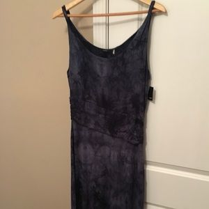 Tahari long blue dress... medium with waste detail