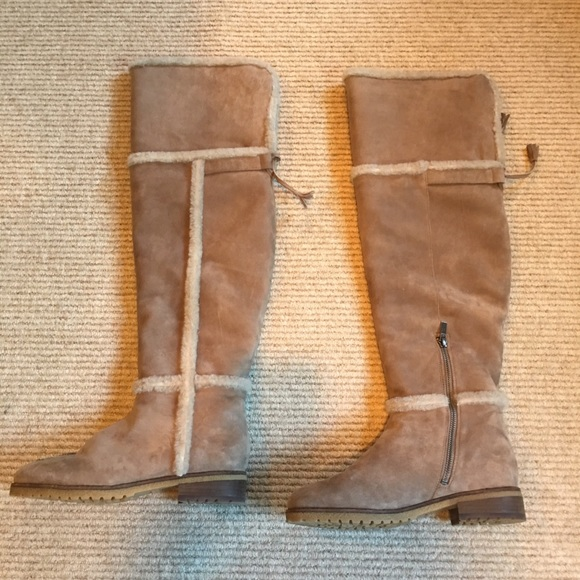 1c034f6dfee Frye Shoes - Frye Tamara Shearling over the knee boot