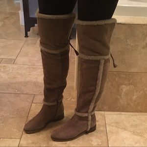 e4e6e5e3116 Frye Shoes - Frye Tamara Shearling over the knee boot