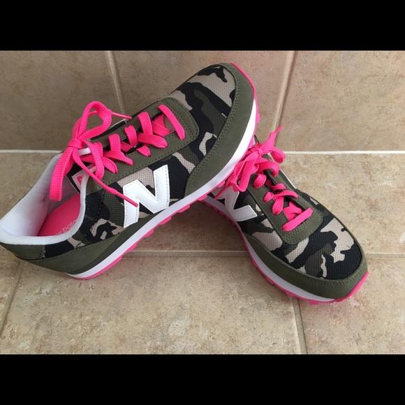 Womens New Balance 5 Camo Pink Shoes