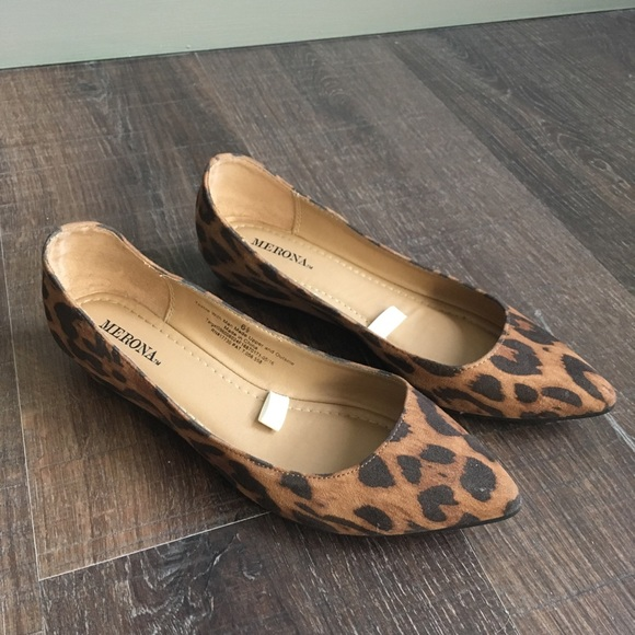 Merona Shoes | Merona Leopard Flats