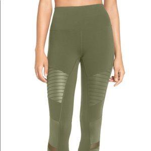 a884e01ba97932 ALO Yoga Pants | High Rise Green Moto Leggings Size Small | Poshmark