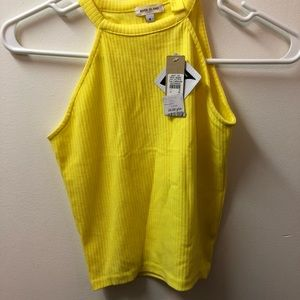 River Island yellow crop top