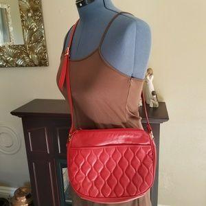 Handbags - 4 for $20-Red genuine leather crossbody bag NWOT