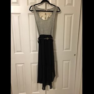 High low dress with skull crochet back