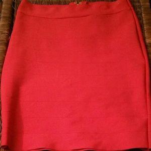 Dresses & Skirts - Red midi skirt