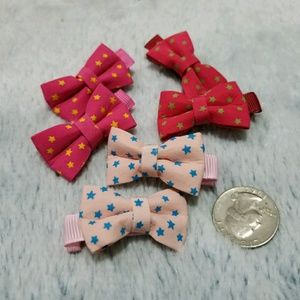 Other - 3 pairs of handmade bow hair clips