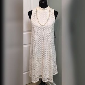New Directions Lace Pull Over Dress