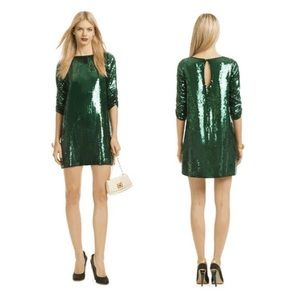 Shoshana Green Sequin Dress