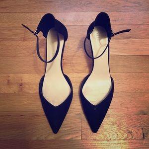 ZARA black ankle pointy heels size 41