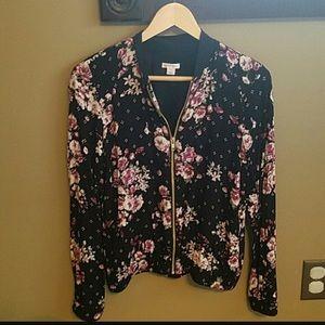 Jackets & Blazers - Xhilaration Floral Bomber Jacket