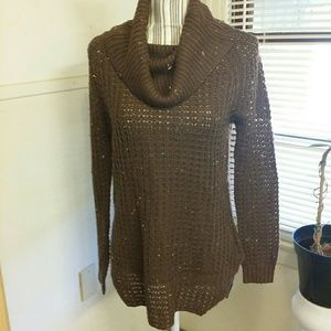 Chocolate high/ low sweater nwot