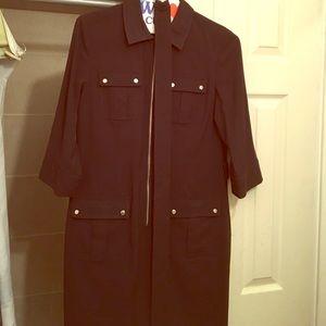 🎉2X HP🎉Michael kors blk zip up dress with belt
