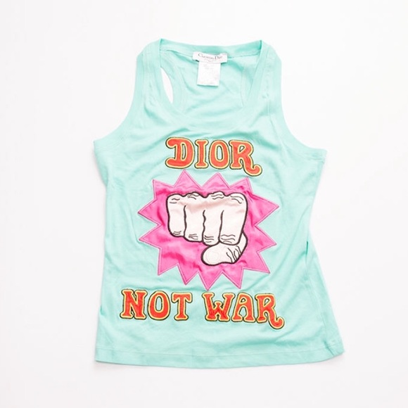 0c431e0331 Dior Tops   Not War Tank Top   Poshmark