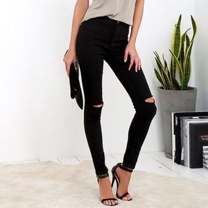 Pants - Black High-Waisted Stretch Skinny Jeans sz 3