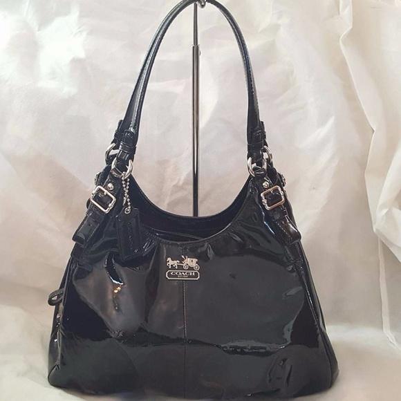 9df866db68 Coach Handbags - LN Coach Maggie Black Patent Leather Satchel
