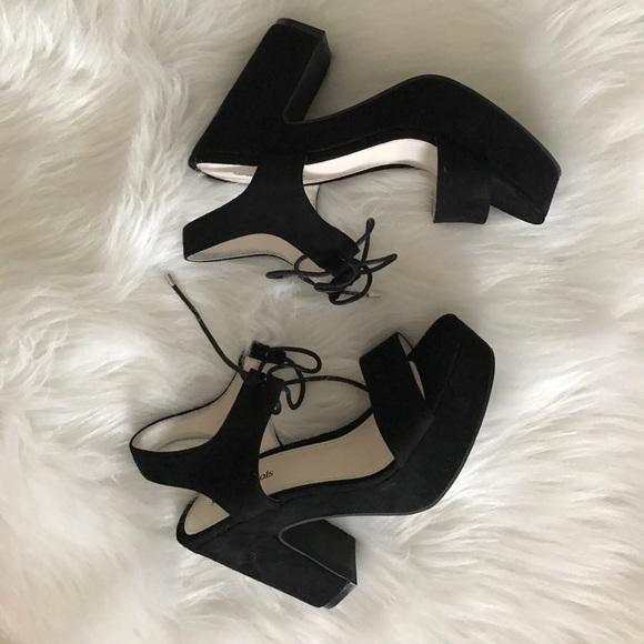 Seven Dials Shoes - Brand NEW Black Platform Heeled Sandals!