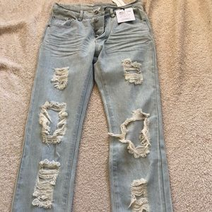 Some days lovin' 26 destroyed jeans. NWT