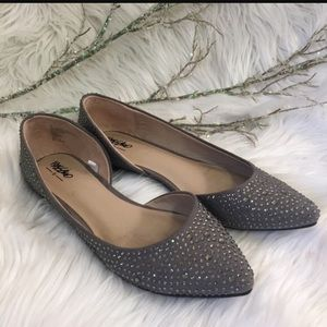 Shoes - Mossimo Gray Sparkle Flats sz8