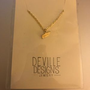 """Jewelry - """"Tennessee"""" Necklace on Gold Chain"""