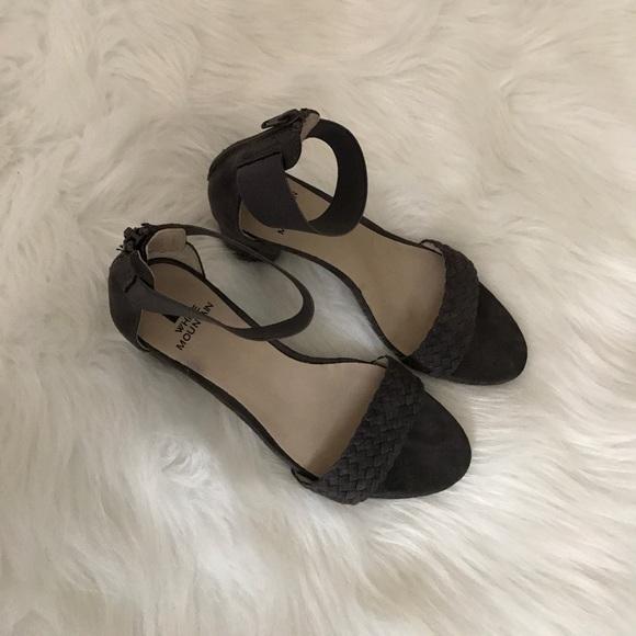 White Mountain Shoes - White Mountain Grey Block Sandals!