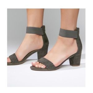 White Mountain Grey Block Sandals!