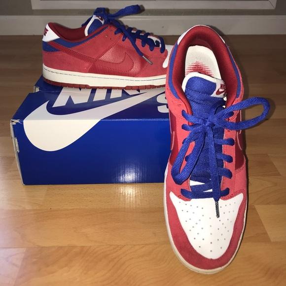 outlet store arrives size 40 Nike Dunk Low Pro SB Varsity Red Old Royal Mens 12