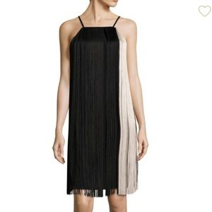 NWT Hugo Boss fringe trim dress