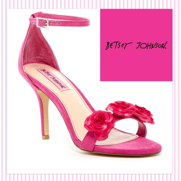 Betsey johnson shoes darling pink flower heels poshmark darling betsey johnson pink flower heels mightylinksfo