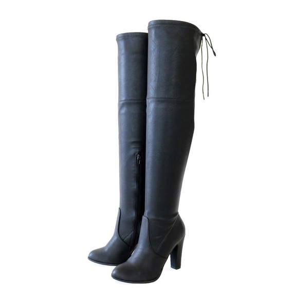 2a80d191e67 dressy black stretch over the knee High boots