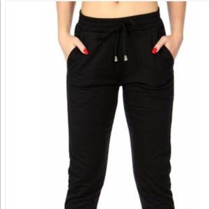 Pants - French Terry cotton jogger Black.