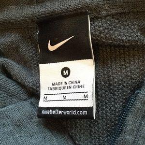 02032e00baa7 Nike Sweaters - Nike SZ M Full Zip Wool Sweater Tennis Hoodie Gray