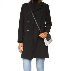 Black wool pea coat by Theory sz L