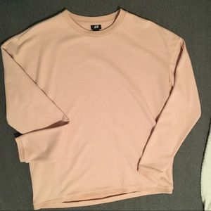 NEW H&M Pink Crewneck Sweatshirt Unisex